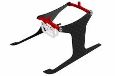 Rakonheli Landegestell in rot für Blade m SR X und m SR S