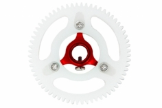 Rakonheli Hauptzahnrad Delrin mit Alu Nabe in rot für Blade mCPXBL, mSR X, mSR S