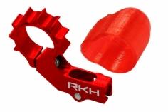 Rakonheli 6mm Heckmotorhalterung Alu in rot für 2mm Heckrohr für Blade mSR X/S, mCP X/V2/S, Nano CPX/CPS/S2