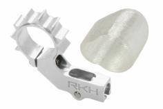 Rakonheli 6mm Heckmotorhalterung Alu in silber für 2mm Heckrohr für Blade mSR X/S, mCP X/V2/S, Nano CPX/CPS/S2