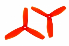 BeeRotor FPV Racer 3 Blatt Propeller Paar 5045 5X4,5X3 in rot transparent je 1x cw und ccw