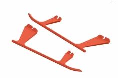 OXY Ersatzteil Landegestell aus Kunststoff in orange für OXY2