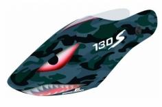 Hydrographics Airbrush Haube in camouflage Shark Design für Blade 130 S