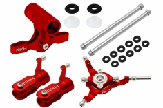 Rakonheli Rotorkopf Set in rot für Blade 130 S, 150 S, und 180 CFX