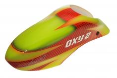 Fusuno Red Snake Design Airbrush fiberglas Kabinenhaube für OXY2