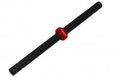 Rakonheli Hauptrotorwelle Carbon und Alu Stellring in rot für Blade 130 S