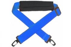 Sendertragegurt in blau mit Nackenpolster