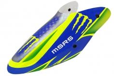 Lionheli Fiberglass Haube Monster Design 04 blau/gelb für den Blade m SR S