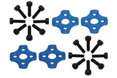 Rakonheli Motor Vibrationsdämpfer in blau für Blade Torrent 110 FPV 4 Stück