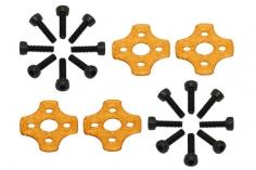 Rakonheli Motor Vibrationsdämpfer in orange für Blade Torrent 110 FPV 4 Stück