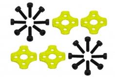 Rakonheli Motor Vibrationsdämpfer in gelb für Blade Torrent 110 FPV 4 Stück