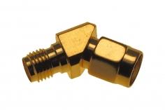 FPV Antennenwinkel 45° RP-SMA (mit Pin) auf RP-SMA (ohne Pin)
