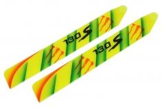 Lionheli Airbrush Kunststoff Hauptrotorblatt in Monsterdesign gelb für Blade 130S