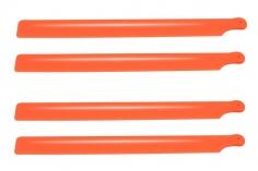 OXY Ersatzteil Hauptrotorblätter 210mm aus Nylon in orange 2 Paar für den OXY2