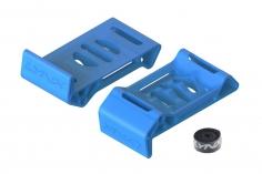Lynx Akkuschutzabdeckung / Landegestell aus Ninja Flex in blau mit Klettband für Blade Torrent 110 FPV