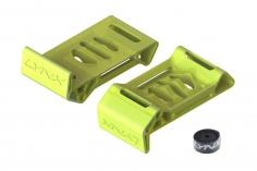 Lynx Akkuschutzabdeckung / Landegestell aus Ninja Flex in gelb mit Klettband für Blade Torrent 110 FPV