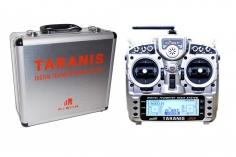 FrSky Taranis X9D Plus Sender 2,4GHz in Mode 2 mit deutscher Menüführung und Senderkoffer