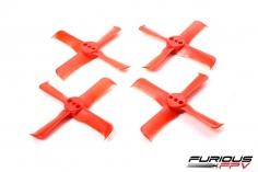 Furious FPV High Performance Propeller 1935-4 in rot 4 Stück je 2x cw und 2x ccw