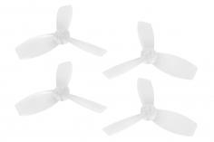 Rakonheli Propellerset 3 Blatt 2222 in transparent 4 Stück (2xCW 2x CCW, 1,5mm Welle) für Blade Torrent 110 FPV
