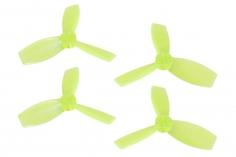 Rakonheli Propellerset 3 Blatt 2222 in transparentem gelb 4 Stück (2xCW 2x CCW, 1,5mm Welle) für Blade Torrent 110 FPV
