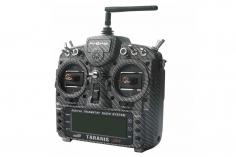 FrSky Taranis X9D Plus Sender 2,4GHz in Mode 2 mit englischer Menüführung, Special-Edition mit M9 Gimbal mit Hall-Sensoren und Softcase im Carbon-Fiber Design