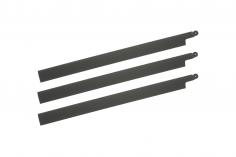 HeliTec der Blattschmied Scale Hauptrotorblätter 3Blatt symetrisch in matt dunkel grau 435mm