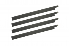 HeliTec der Blattschmied Scale Hauptrotorblätter 4Blatt symmetrisch in matt dunkel grau 435mm