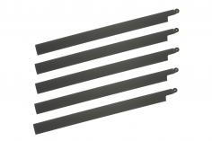 HeliTec der Blattschmied Scale Hauptrotorblätter 5Blatt symetrisch in matt dunkel grau 435mm