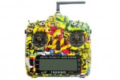 FrSky Taranis X9D Plus Sender 2,4GHz in Mode 2 mit englischer Menüführung, Special-Edition mit M9 Gimbal mit Hall-Sensoren und Softcase im Rock Monster Design