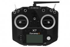 FrSky Taranis Q X7 Sender in schwarz 2,4GHz in Mode 2 mit englischer Menüführung, mit Sendergurt, ohne Akku, ohne Ladegerät