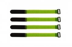 Akkuklettband 200mm in grün 4 Stück