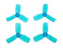 3 Blatt Propeller 2030 in transparentem blau 4 Stück (2xCW 2x CCW für 1,5mm Welle)