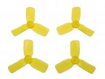 3 Blatt Propeller 2030 in transparentem gelb 4 Stück (2xCW 2x CCW für 1,5mm Welle)