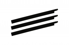 HeliTec der Blattschmied Scale Hauptrotorblätter 3Blatt symetrisch in matt schwarz 435mm
