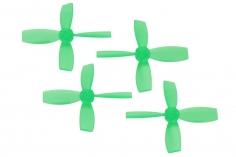 Rakonheli Propellerset 4 Blatt 2222 in transparentem grün 4 Stück (2xCW 2x CCW, 1,5mm Welle) für Blade Torrent 110 FPV