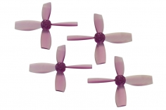 Rakonheli Propellerset 4 Blatt 2222 in transparentem violet 4 Stück (2xCW 2x CCW, 1,5mm Welle) für Blade Torrent 110 FPV