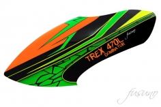 Fusuno Green Snake Airbrushed fiberglass Haube für T-REX 470L