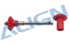 Align hinteres Heckrotorgetriebe Starrantrieb Set für T-REX 700E, 700 Nitro, 800