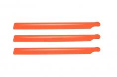 OXY Ersatzteil 3 Blatt Hauptrotorblätter aus Kunststoff in orange 190mm für OXY2
