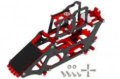 Rakonheli Hauptrahmen aus Carbon in rot für Blade 130 S