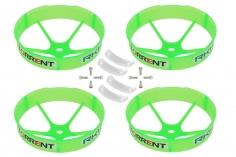 Rakonheli Propellerschützer in transparentem grün 59mm 4 Stück für den Blade Torrent 110 FPV