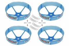 Rakonheli Propellerschützer in transparentem blau 59mm 4 Stück für den Blade Torrent 110 FPV