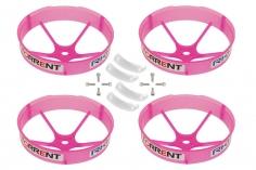Rakonheli Propellerschützer in transparentem pink 59mm 4 Stück für den Blade Torrent 110 FPV