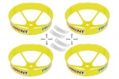 Rakonheli Propellerschützer in transparentem gelb 59mm 4 Stück für den Blade Torrent 110 FPV