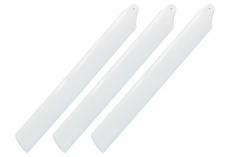 Rakonheli Hauptrotorblätter 155mm 3 Blatt Satz in weiß für Blade Trio 180 CFX