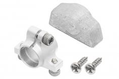 Rakonheli Ersatzheckrohrhalterung aus Aluminium in silber für Rakonheli Hauptrahmen für den Blade 130S