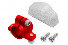 Rakonheli Ersatzheckrohrhalterung aus Aluminium in rot für Rakonheli Hauptrahmen für den Blade 130S