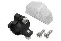 Rakonheli Ersatzheckrohrhalterung aus Aluminium in schwarz für Rakonheli Hauptrahmen für den Blade 130S
