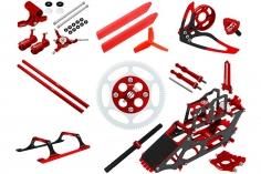 Rakonheli Tuning Set aus CNC Aluminium in rot für den Blade 130S