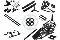 Rakonheli Tuning Set aus CNC Aluminium in schwarz für den Blade 130S